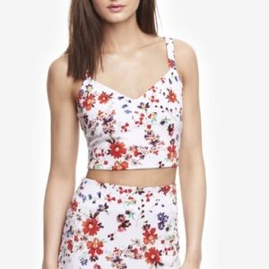Express Floral Crop Top NWT